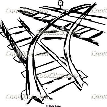 375x373 Amazing Railroad Tracks Clipart Line Drawing Railroad Tracks