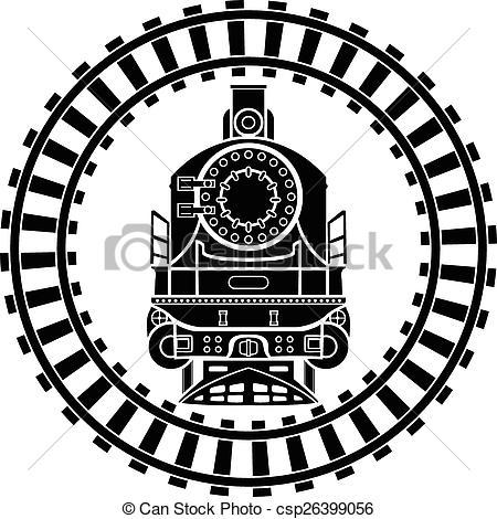 450x470 Steam Powered Train Drawing