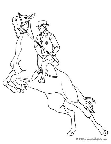 364x470 man on jumping horse coloring pages