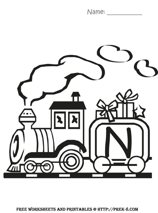 666x900 Free Alphabet Train Coloring Pages Colouring For Humorous Draw