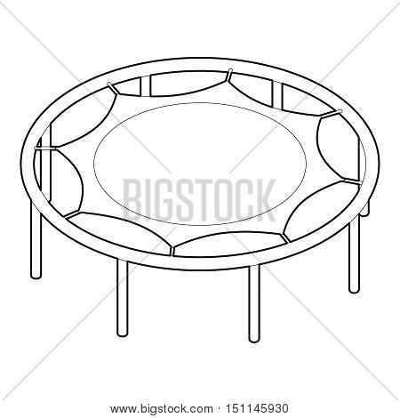450x470 Trampoline Jumping Icon. Outline Vector Amp Photo Bigstock