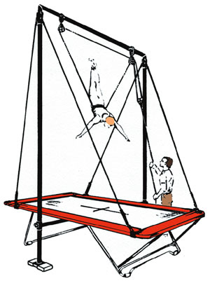 300x404 Trampoline Spotting Rig Attaches To Frame