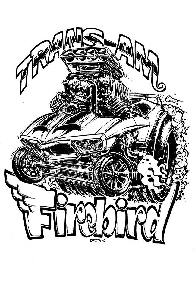 647x1000 New Hot Rod Poster 11x17 Ed Big Daddy Roth Paper Print Firebird