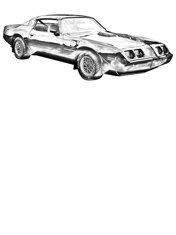 600x800 1980 Pontiac Trans Am Muscle Car Illustration Stickers By