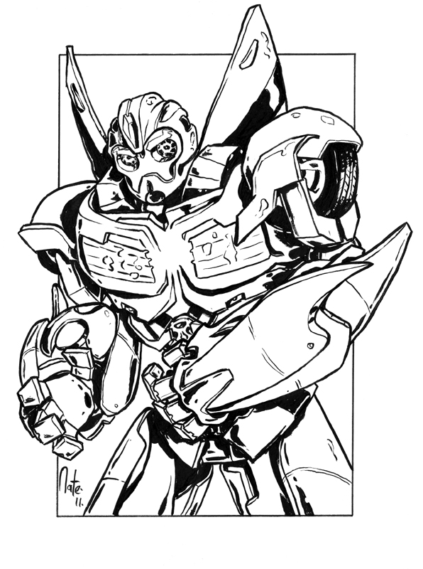596x800 Bumblebee Transformer Coloring Pages Printable
