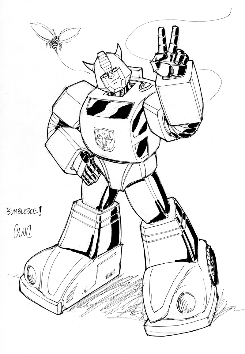 Transformer Bumblebee Drawing at GetDrawings.com | Free for personal ...