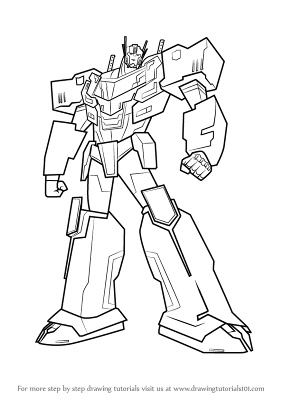 566x800 Learn How To Draw Optimus Prime From Transformers (Transformers