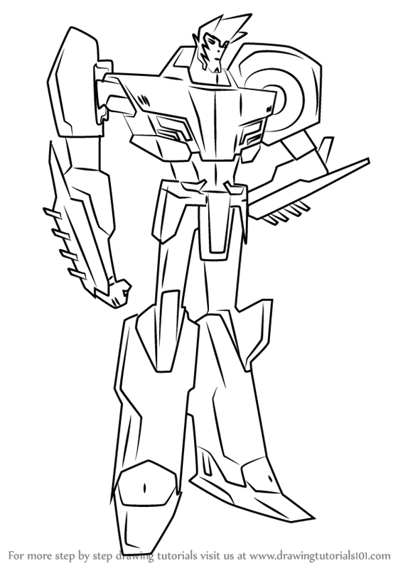 567x800 Learn How To Draw Sideswipe From Transformers (Transformers) Step