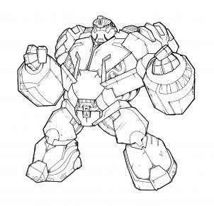 302x290 How To Draw Bulkhead, Transformers Prime, Bulkhead Step 20