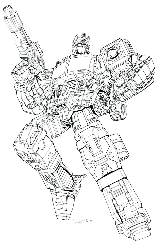 647x1000 Transformers Coloring Pages Printable