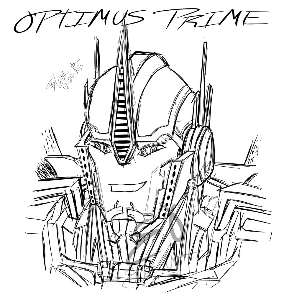 1024x1024 Optimus Prime Coloring Pages Transformers