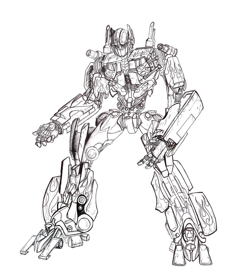 828x965 Optimus Prime Moviestyle By Tophoid