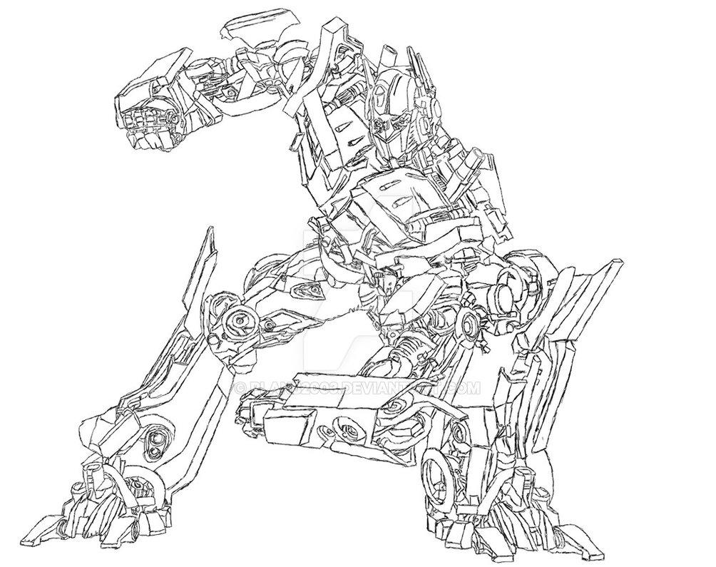 Gambar Transformer Untuk Mewarnai
