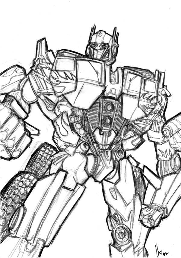 600x853 Optimus Prime By Hugohugo