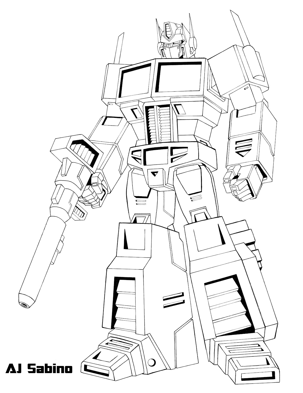 1236x1600 Cool And Opulent Transformers Optimus Prime Coloring Pages G1
