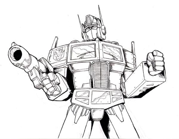 600x467 Optimus Prime Line Art By Optimus8404