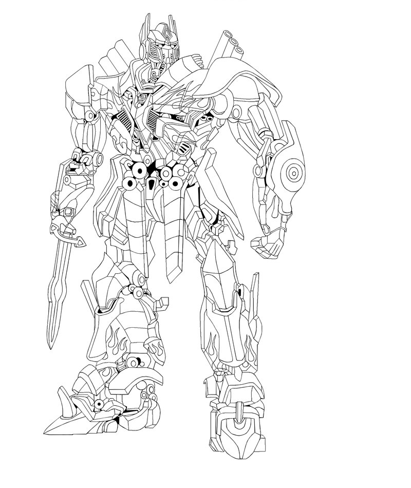 Transformer Optimus Prime Drawing at GetDrawings.com | Free for ...