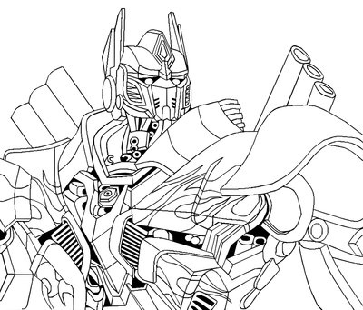 400x341 Optimus Prime Sketch Portrait By Isterini