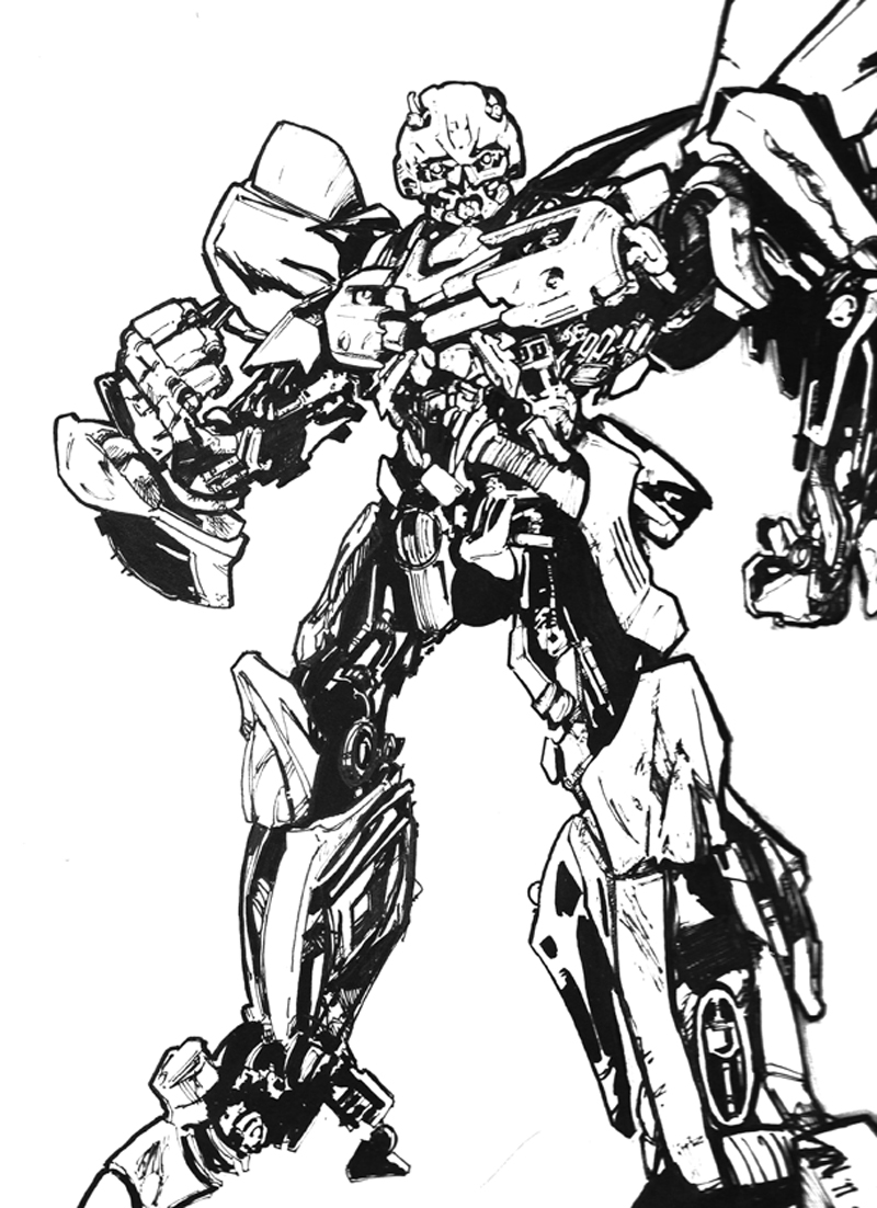 Transformers Bumblebee Drawing At Getdrawingscom Free For - Coloring-pages-of-bumble-bees