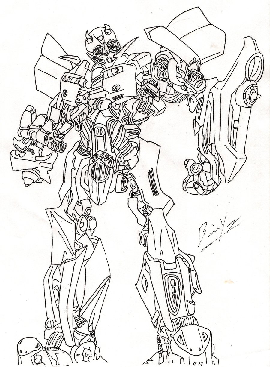 900x1220 Bumblebee Transformer Coloring Page