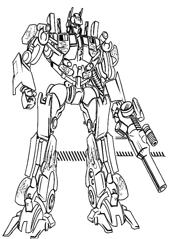 Transformers cartoon drawing at free for for Transformers animated coloring pages