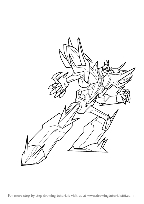 566x800 Learn How To Draw Fracture From Transformers (Transformers) Step