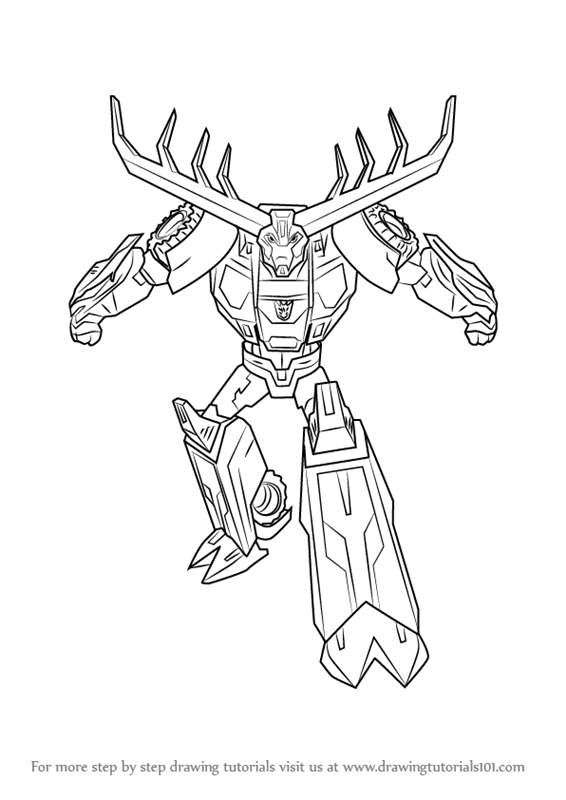 566x800 Learn How To Draw Thunderhoof From Transformers (Transformers