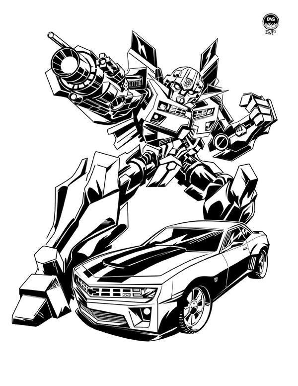 600x776 Transformers Coloring Pages Bumblebee Car