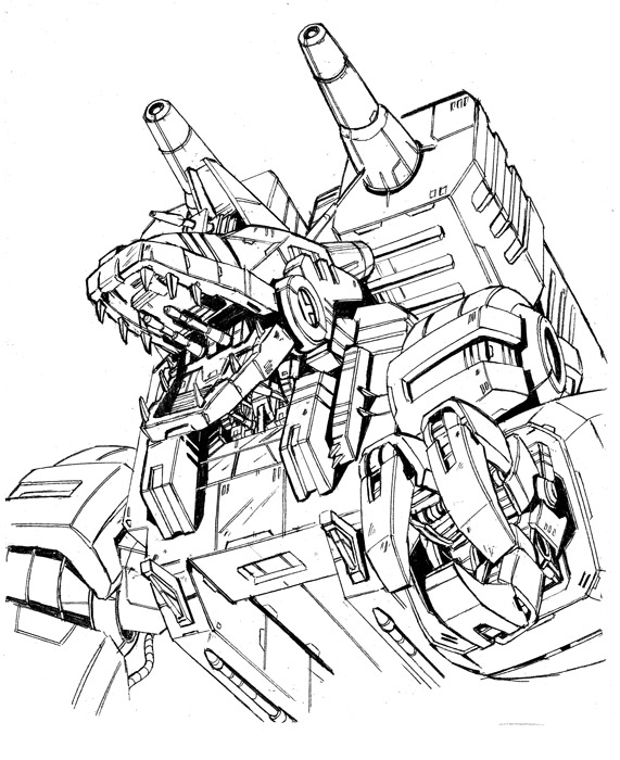 571x700 Trypticon Drawing By Marble V