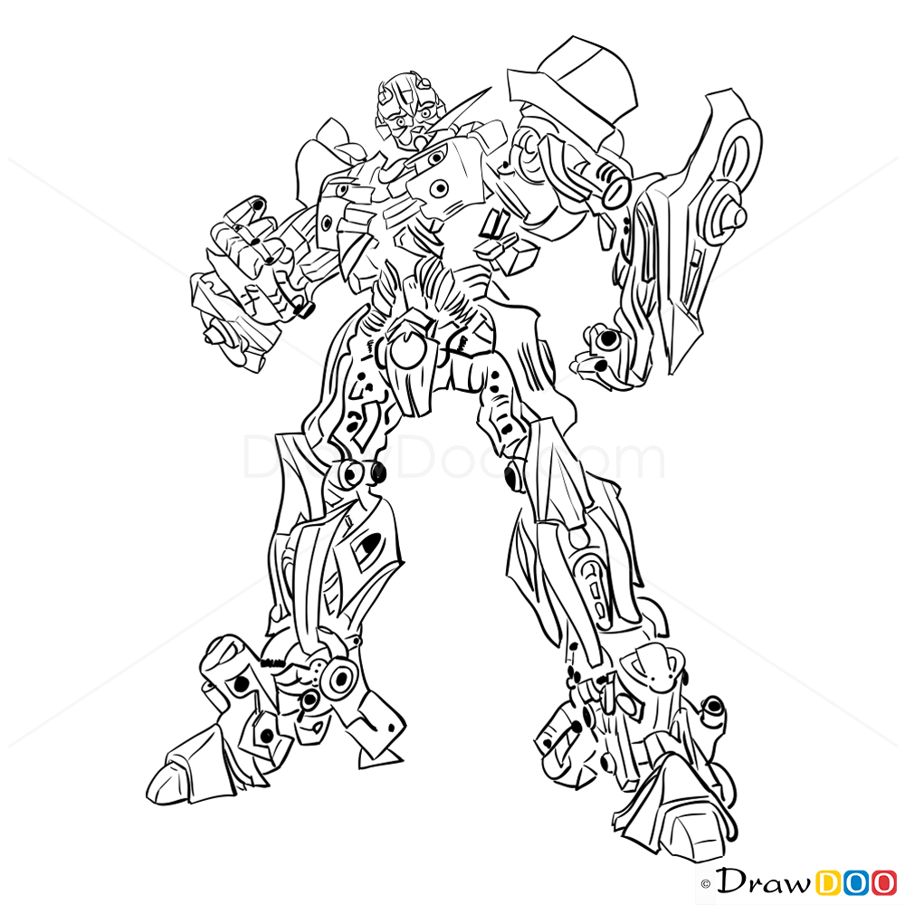 1000x1000 Drawing Of A Bumble Bee How To Draw Bumblebee, Transformers