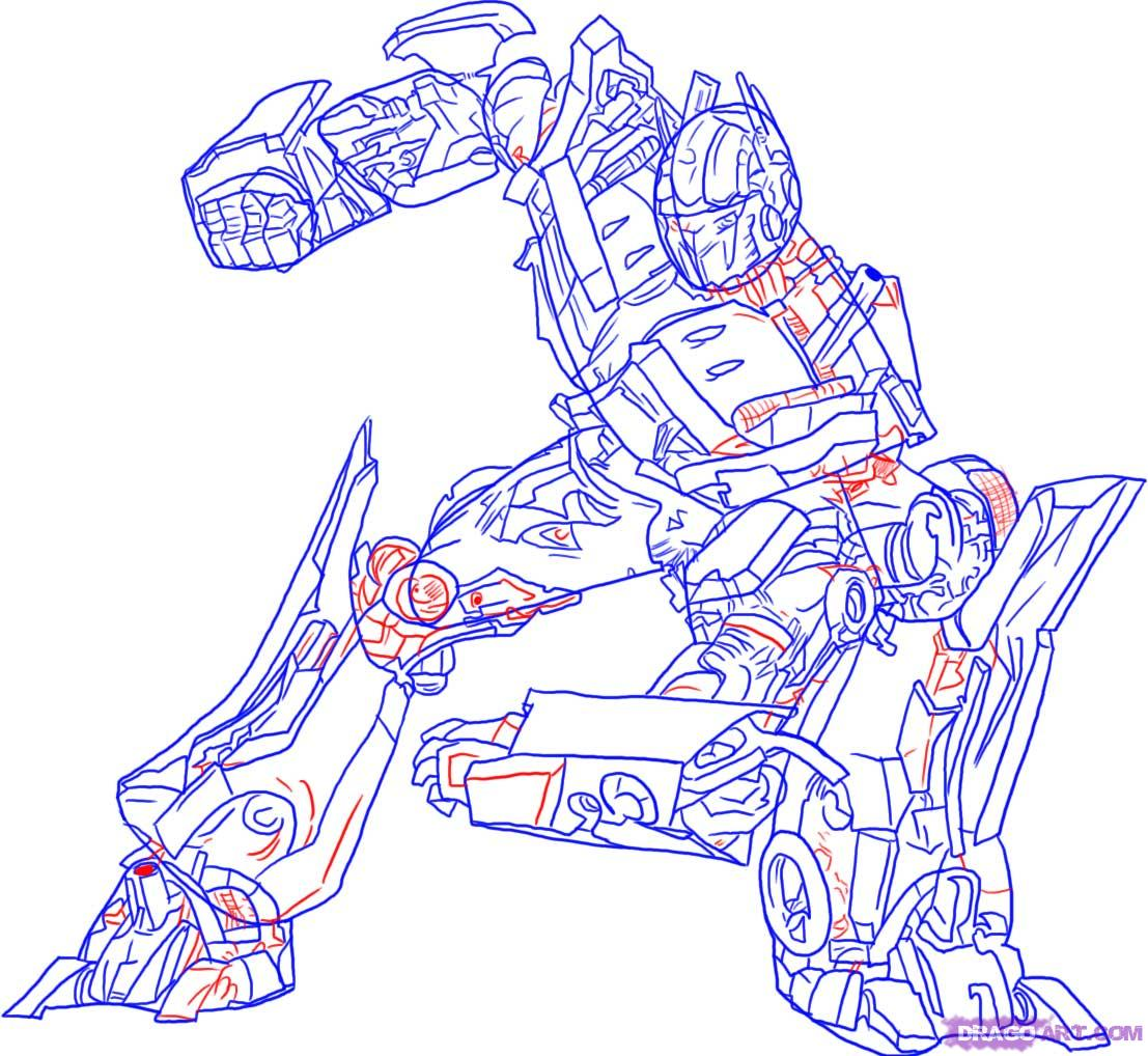 1107x1018 Drawn Transformers Drawing Transformers Characters