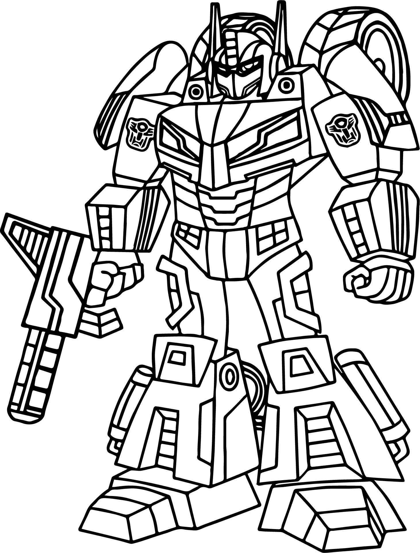 Impressionnant Dessin A Colorier Transformers Optimus Prime