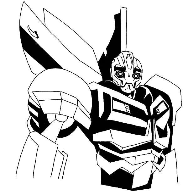 600x620 Modest Bumblebee Coloring Pages Car Transformer Robot With