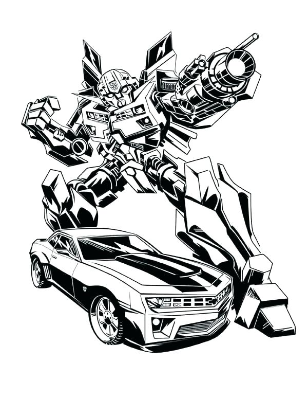 600x776 Bumblebee Transformer Coloring Pages Transformers