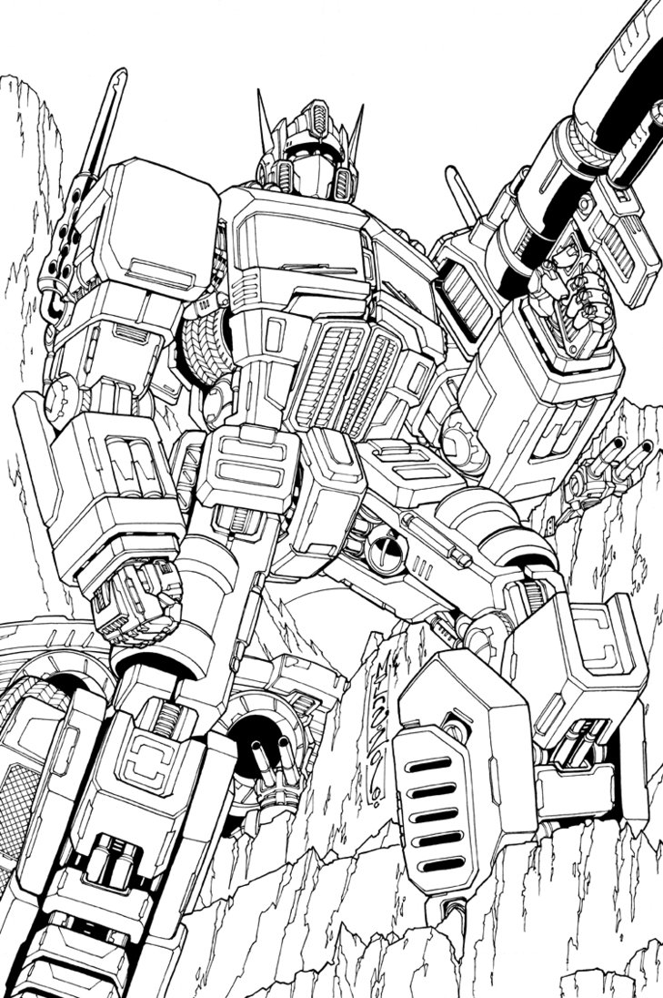 729x1096 Optimus Prime Lineart By Markerguru