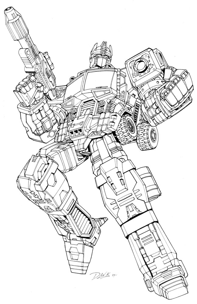 Transformers Optimus Prime Drawing at GetDrawings.com | Free for ...