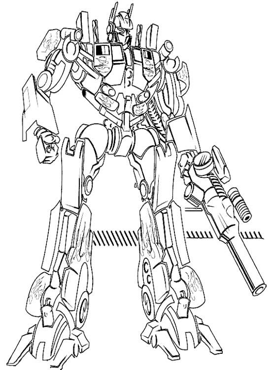 Attractive 550x751 Transformers Optimus Prime Coloring Free Download