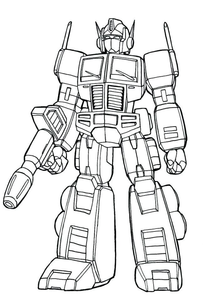 649x960 Optimus Prime Coloriage