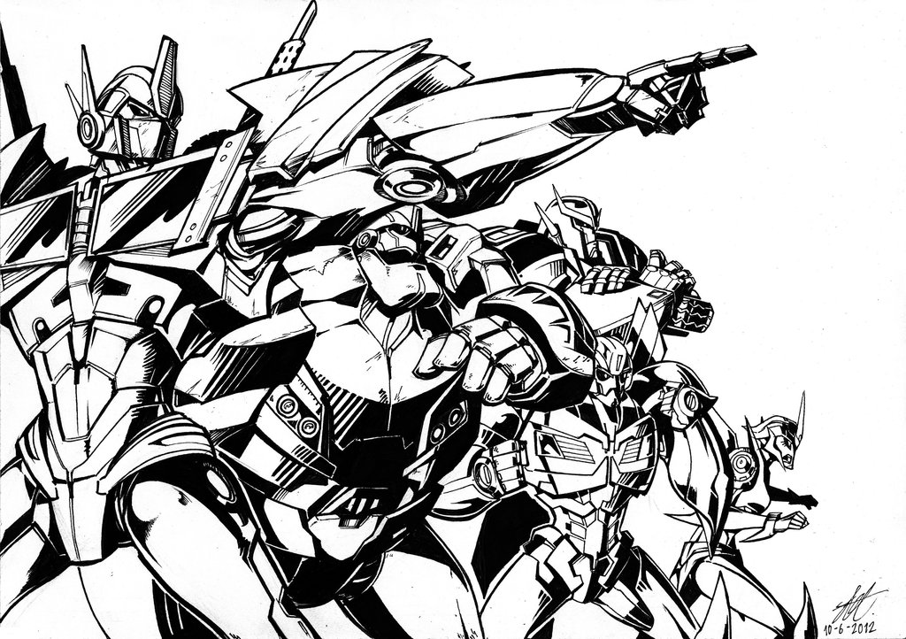 Transformers prime drawing at free for for Transformers sentinel prime coloring pages
