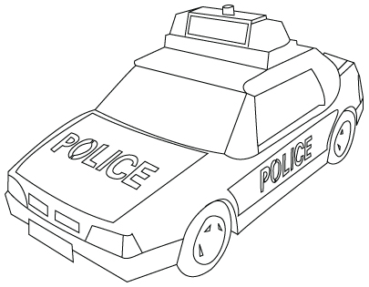 405x315 Police Car Drawing Childrens Drawings