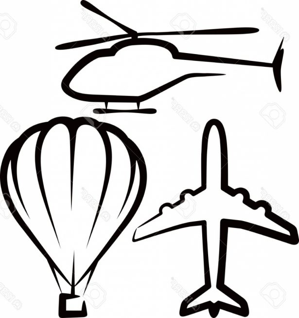 615x653 Simple Airplane Drawing Simple Illustration With Air Transport