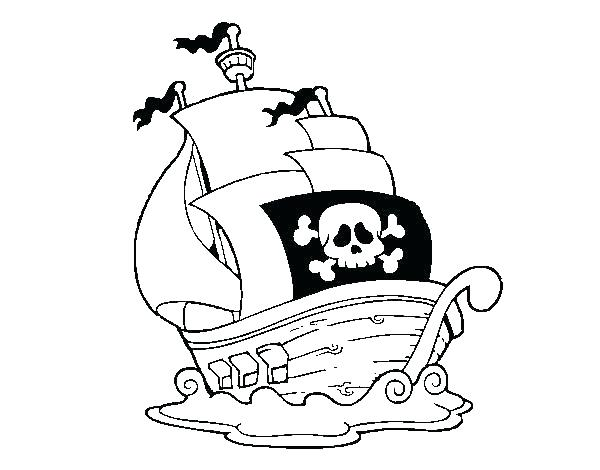 600x470 Cool Pirate Ship Coloring Page Online Transportation Printable