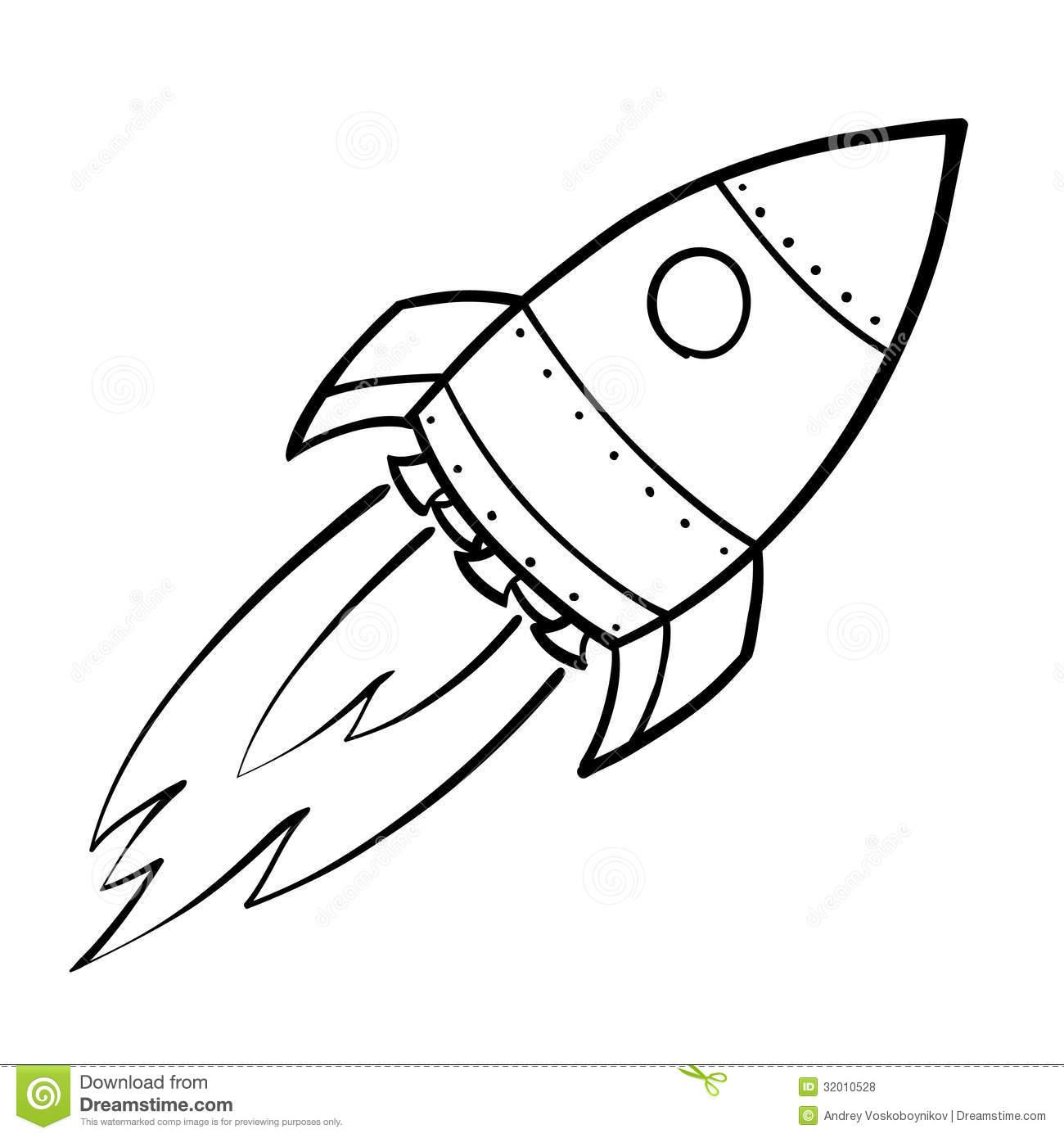 1300x1390 Drawing Of A Rocket Rocket