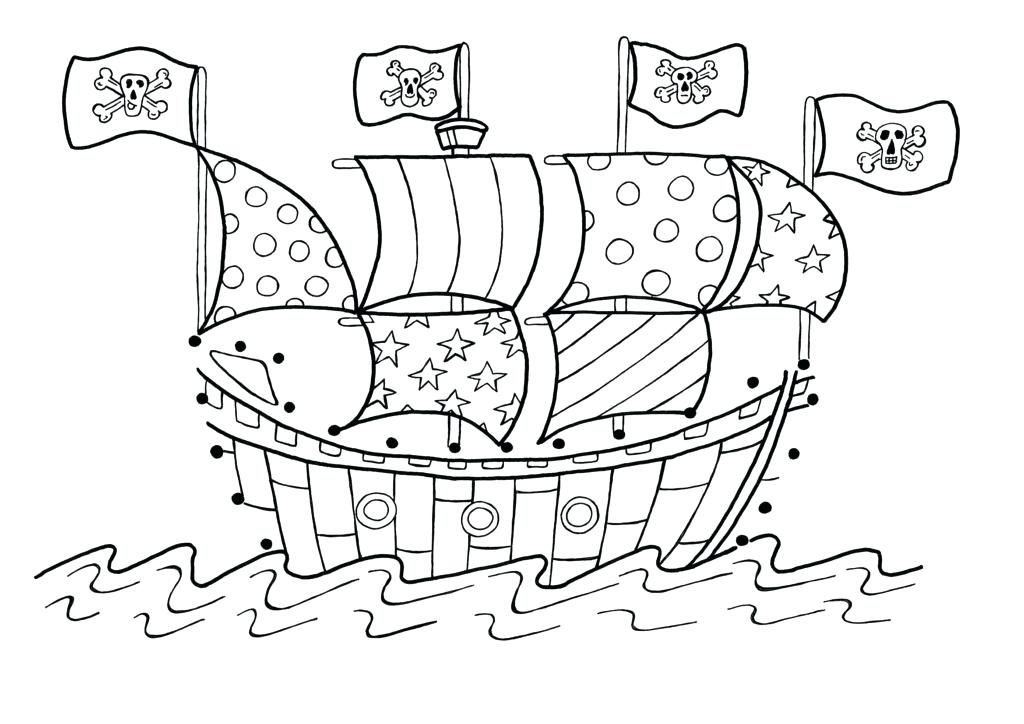 1024x724 Drawing Pirate Ship Coloring Page Transportation Printable Pages