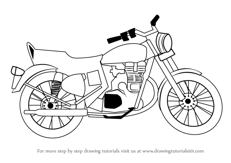 800x565 Learn How To Draw A Motorcycle (Two Wheelers) Step By Step