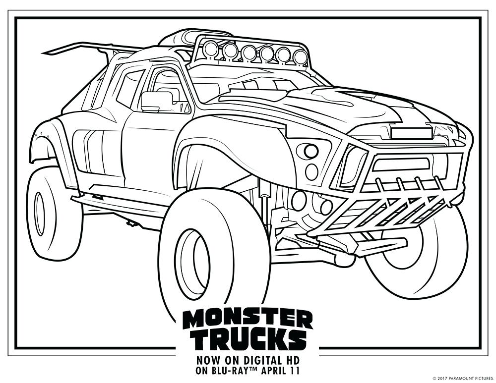 1000x773 Monster Truck Coloring Pages For Kids Nice Monster Truck With Eyes