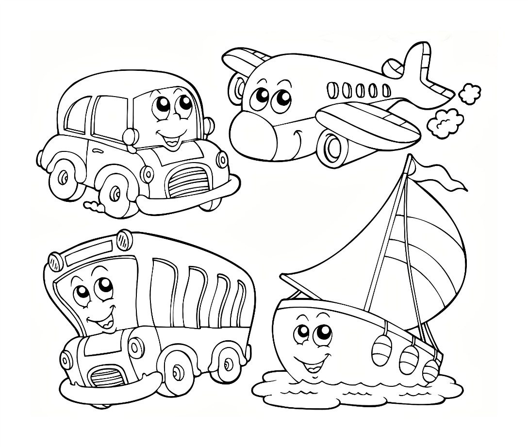 1088x921 Transportation Coloring Pages Paginonebiz