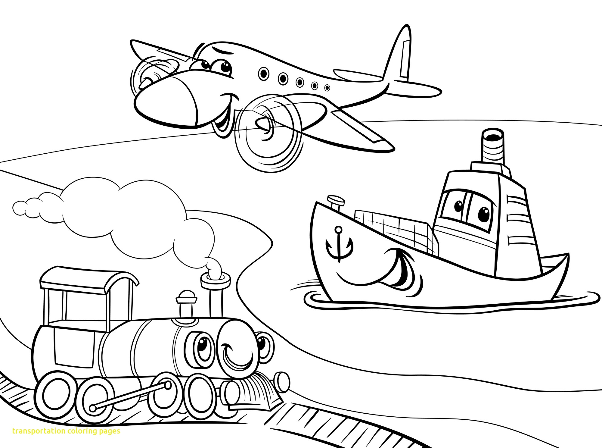 2000x1487 Transportation Coloring Pages With Transportation Coloring Pages