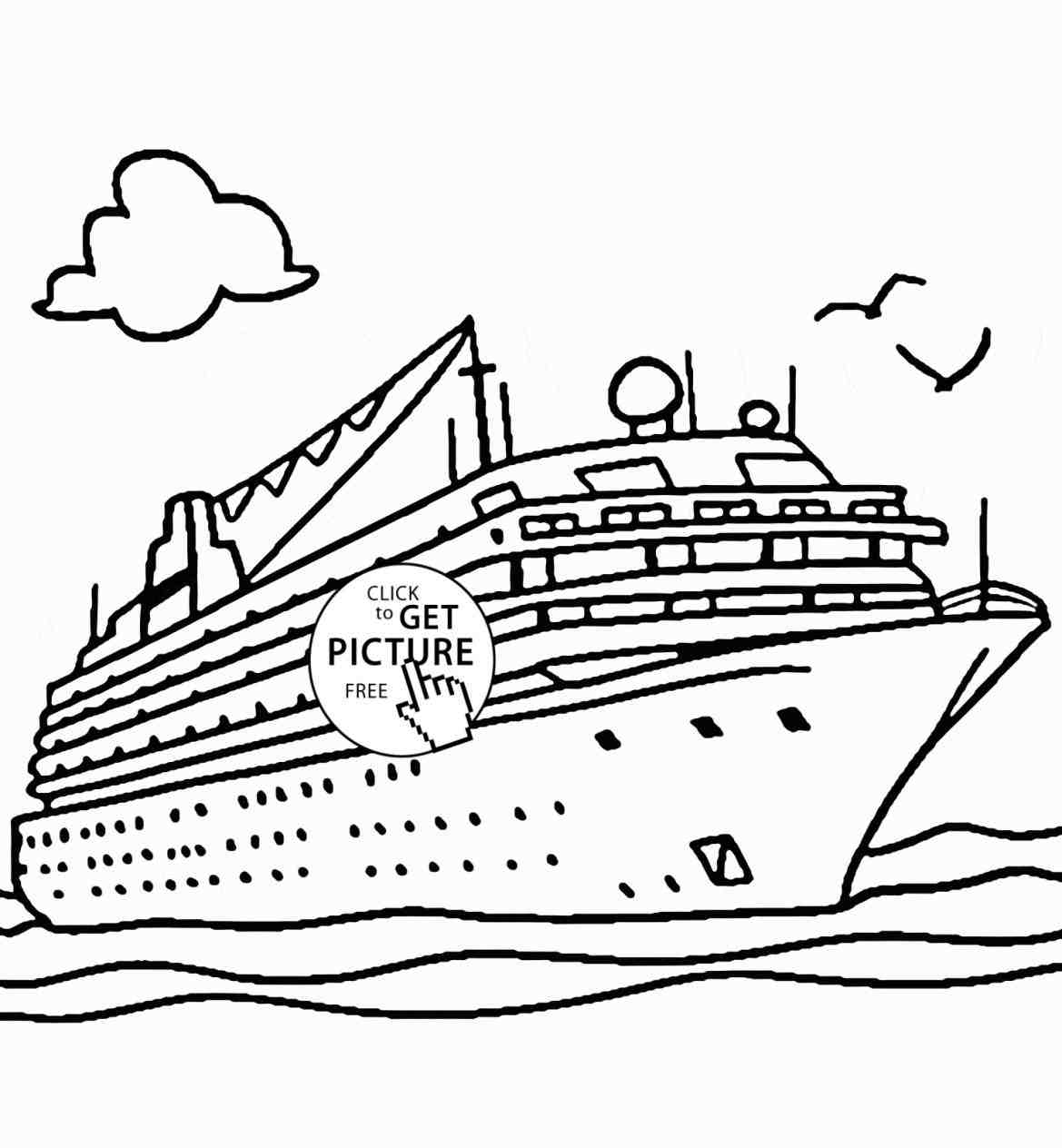 1169x1264 Ship Drawing For Kids Cruise Coloring Page Transportation Clip Art