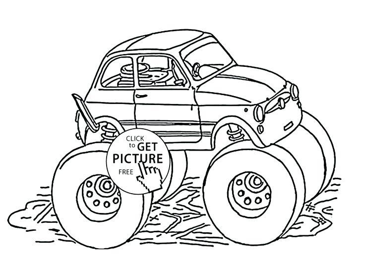 736x533 Batman Monster Truck Coloring Pages Fiat Monster Truck Coloring
